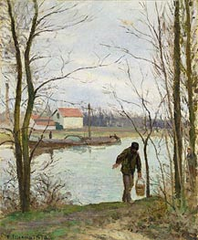 Banks of the Oise, 1874 by Pissarro   Painting Reproduction