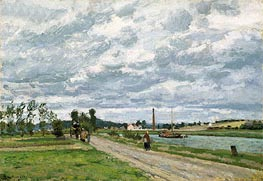 The Banks of the Oise near Pontoise, 1873 by Pissarro   Painting Reproduction