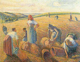The Gleaners, 1889 by Pissarro   Painting Reproduction