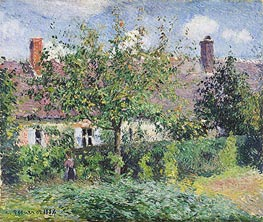 Peasant House at Eragny, 1884 by Pissarro   Painting Reproduction