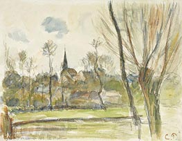 Esplanade se Bazincourt | Pissarro | Painting Reproduction