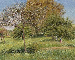 The Large Walnut, Morning, Eragny | Pissarro | Gemälde Reproduktion