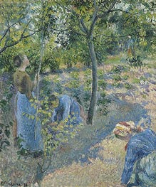 Picking Apples | Pissarro | Gemälde-Reproduktion