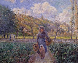 In the Vegetable Garden   Pissarro   Painting Reproduction