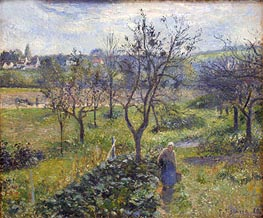 Garden at Val Hermeil   Pissarro   Painting Reproduction