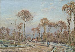 The Road to Versailles, Louveciennes, Morning Frost  | Pissarro | Painting Reproduction