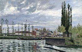 The Lock at Pontoise | Pissarro | Painting Reproduction
