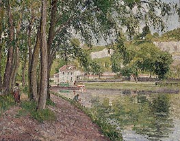 Moret, the Loing Canal (The Towpath at Saint-Mammes), 1902 by Pissarro | Painting Reproduction