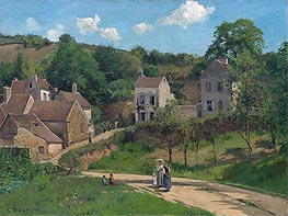 The Hermitage at Pontoise | Pissarro | Gemälde Reproduktion
