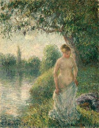 The Bather, 1895 by Pissarro | Painting Reproduction
