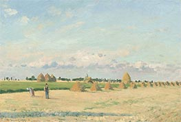 Landscape, Ile-de-France, 1873 by Pissarro | Painting Reproduction