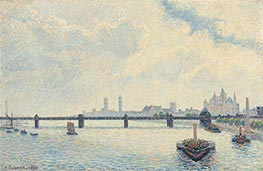 Charing Cross Bridge, London, 1890 von Pissarro | Gemälde-Reproduktion