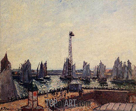 The Inner Port and Pilots Jetty, Le Havre, 1903 | Pissarro | Painting Reproduction