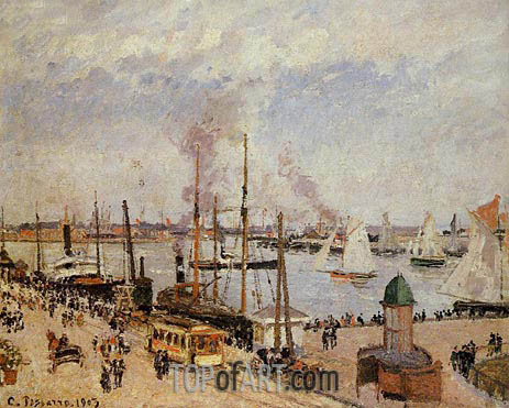 The Port of Le Havre - High Tide, 1903 | Pissarro | Gemälde Reproduktion