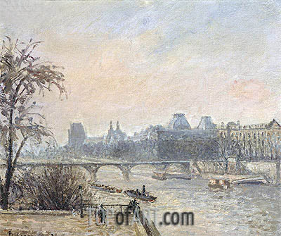 The Seine and the Louvre, Paris, 1903 | Pissarro | Painting Reproduction