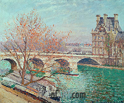 The Pont Royal and the Pavillon de Flore, 1903 | Pissarro | Painting Reproduction
