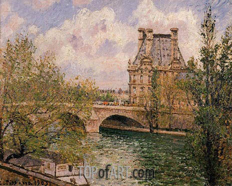 The Pavillon de Flore and the Pont Royal, 1903 | Pissarro | Painting Reproduction