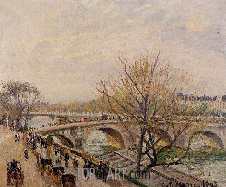 The Seine at Paris, Pont Royal, 1903 | Pissarro | Painting Reproduction