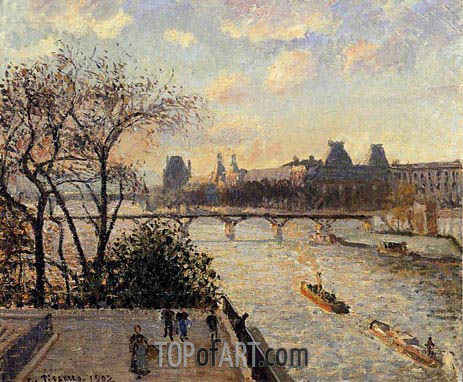 The Louvre and the Seine from the Pont-Neuf, 1902 | Pissarro | Painting Reproduction