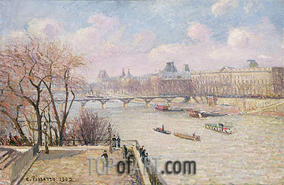 The Raised Terrace of the Pont-Neuf, 1902 | Pissarro | Painting Reproduction