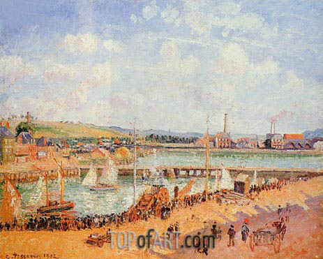 The Port of Dieppe, the Duquesne and Berrigny..., 1902 | Pissarro | Painting Reproduction
