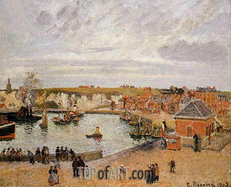 The Port of Dieppe, 1902 | Pissarro | Painting Reproduction