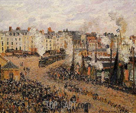The Fishmarket, Dieppe, 1902 | Pissarro | Gemälde Reproduktion