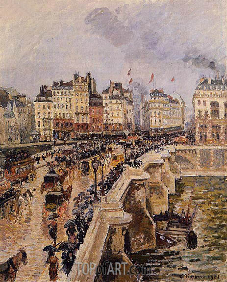 The Pont-Neuf, Rainy Afternoon, 1901 | Pissarro | Painting Reproduction