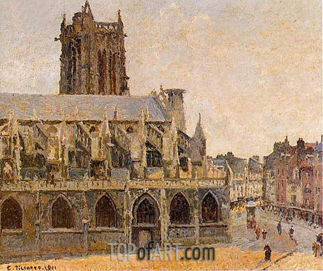 The Church of Saint-Jacques, Dieppe, 1901 | Pissarro | Gemälde Reproduktion