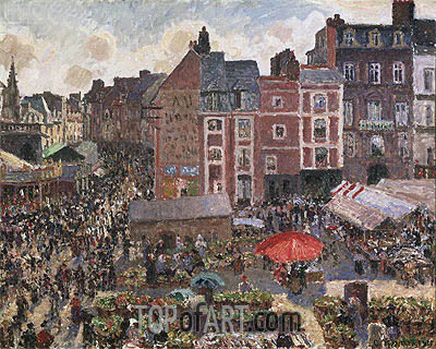 Fair on a Sunny Afternoon, Dieppe, 1901 | Pissarro | Painting Reproduction