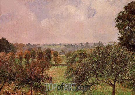 After the Rain, Autumn, Eragny, 1901 | Pissarro | Gemälde Reproduktion