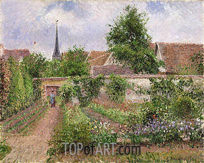 Swell Vegetable Garden In Eragny Overcast Sky Morning 1901 By Pissarro Interior Design Ideas Gentotryabchikinfo