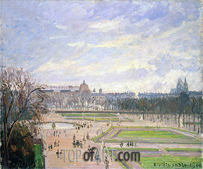 The Tuileries Gardens, 1900 | Pissarro | Gemälde Reproduktion