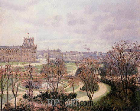 View of the Tuileries - Morning, 1900 | Pissarro | Gemälde Reproduktion