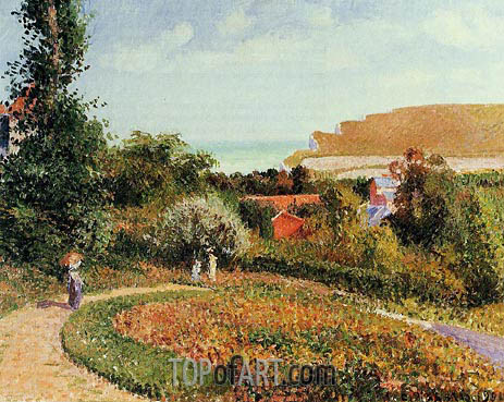 The Garden of the Hotel Berneval, 1900 | Pissarro | Painting Reproduction