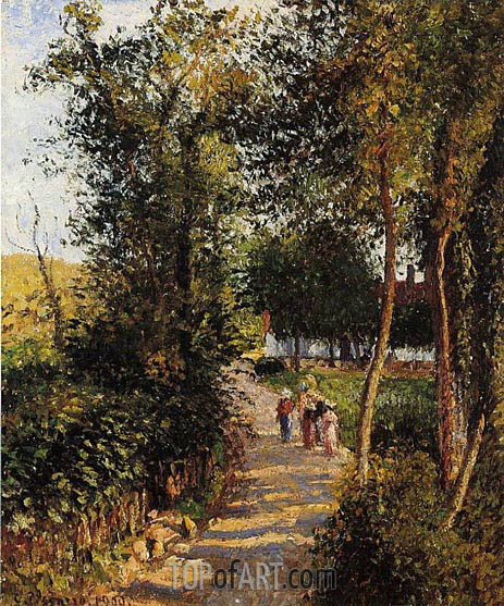 Route de Berneval-le-Petit (Maison Thievain), 1900 | Pissarro | Painting Reproduction