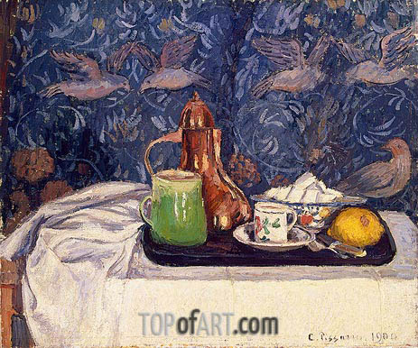 Still LIfe with a Coffee Pot, 1900 | Pissarro | Painting Reproduction