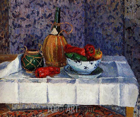 Still Life with Spanish Peppers, 1899 | Pissarro | Gemälde Reproduktion