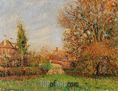 Autumn in Eragny, 1899 | Pissarro | Gemälde Reproduktion