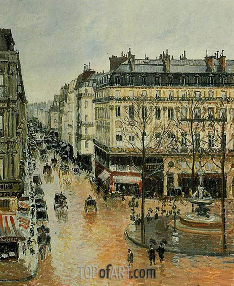 Rue Saint-Honore - Afternoon, Rain Effect, 1897 | Pissarro | Gemälde Reproduktion