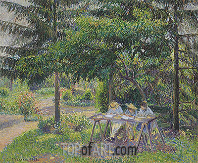 Children in a Garden at Eragny, 1892 | Pissarro | Painting Reproduction