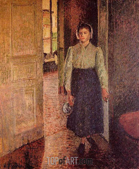 The Young Maid, 1896 | Pissarro | Painting Reproduction