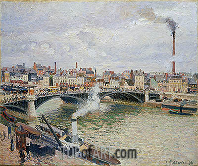 Morning, An Overcast Day, Rouen, 1896 | Pissarro | Painting Reproduction