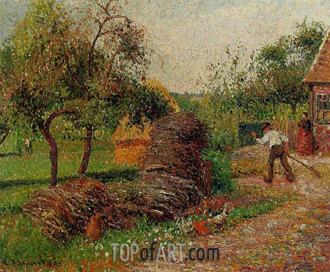 Mother Lucien's Yard, Eragny, 1895 | Pissarro | Gemälde Reproduktion