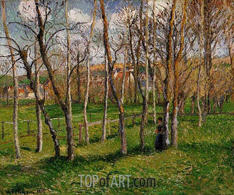The Meadow at Bazincourt, 1895 | Pissarro | Painting Reproduction