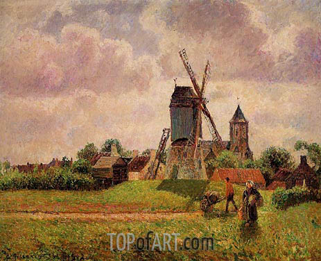The Knocke Windmill, Belgium, 1894/02 | Pissarro | Gemälde Reproduktion