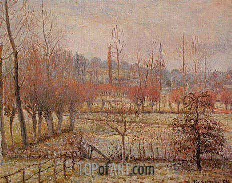 Hoarfrosst, Morning (Snow Effect in Eragny), 1894 | Pissarro | Gemälde Reproduktion