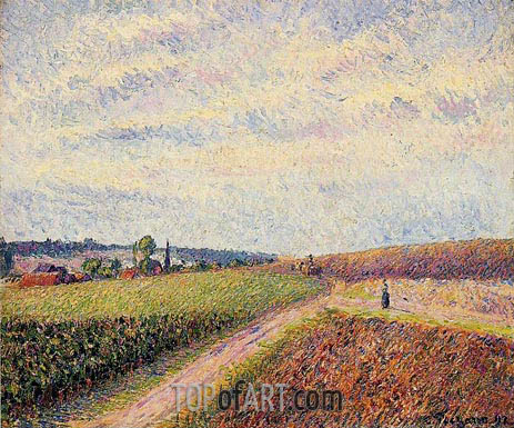 View of Eragny, 1892 | Pissarro | Painting Reproduction