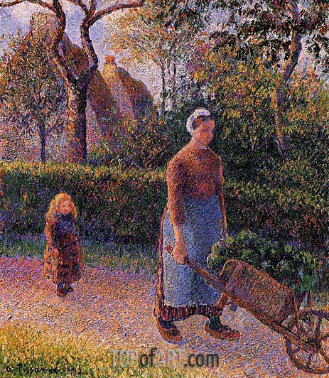 Woman with a Wheelbarrow, 1892 | Pissarro | Gemälde Reproduktion