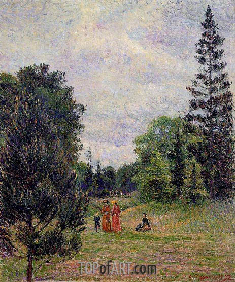 Kew Gardens, Crossroads near the Pond, 1892 | Pissarro | Gemälde Reproduktion